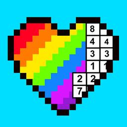 彩虹数字填色手游