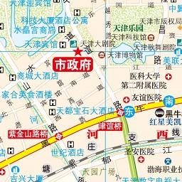 天津市地图区域划分图最新版 可放大版